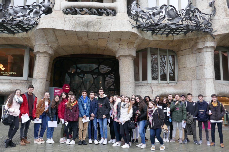 Els alumnes de 4t d'ESO a Barcelona